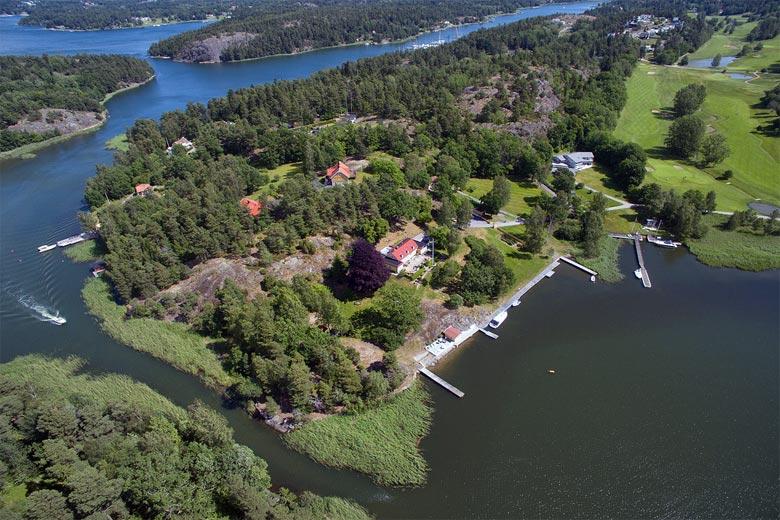 Insel Ingarö von oben