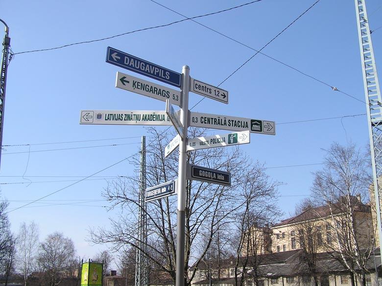 Wegweiser Riga