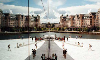 Bevölkerungszahl Norwegen. Einwanderung