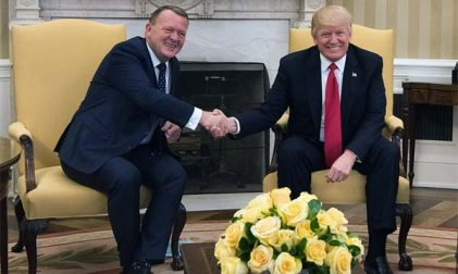 Twitter Lars Løkke Rasmussen und Donald Trump