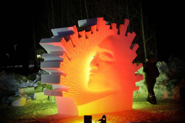 Skulptur Daybreak after Polarnight