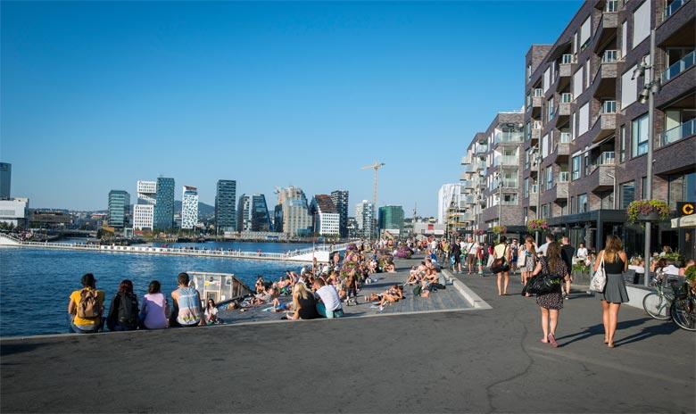 Hafenpromenade, Reiseziel Oslo