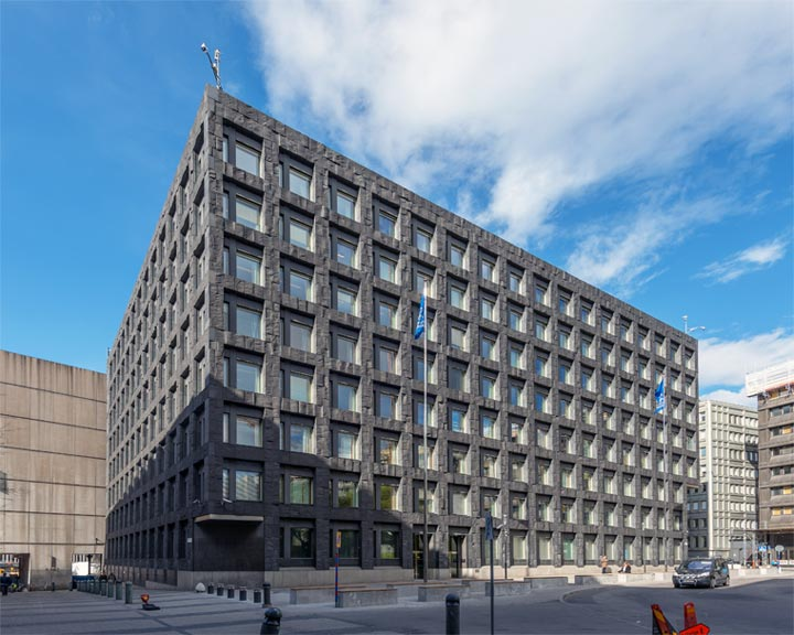 Hauptsitz der Schwedischen Zentralbank