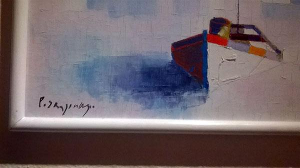 Von welchem finnischen Künstler stammt das Gemälde?