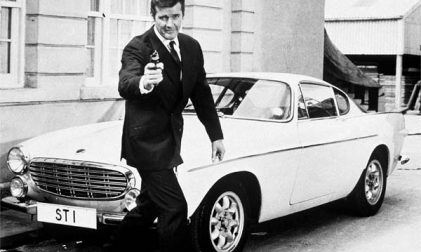 Roger Moore Volvo P1800 S