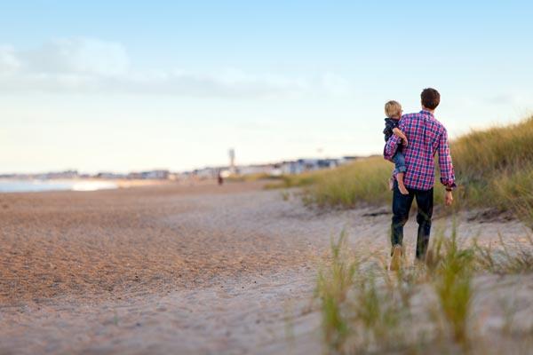 Familie macht nordeuropäische Männer glücklich
