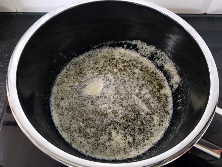 Backrezept: Butter schmelzen