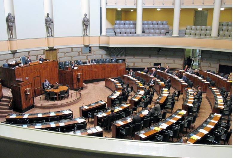 Finnisches Parlament Aktiivimalli