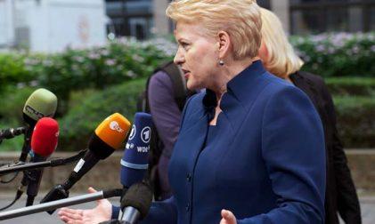 Dalia Grybauskaite Serbien