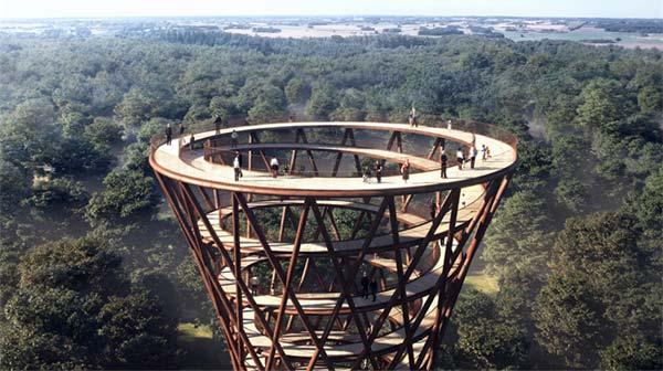 """Bau eines """"Wolkenkratzers aus Holz"""" beginnt in Dänemark"""