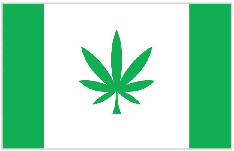 Hanfblatt Flagge Kanepi