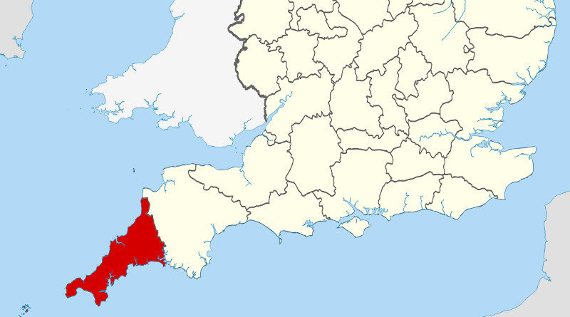 Landkarte Cornwall