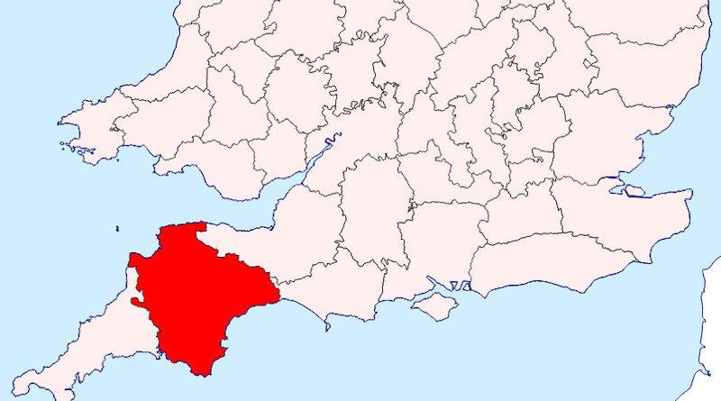 Karte Devon