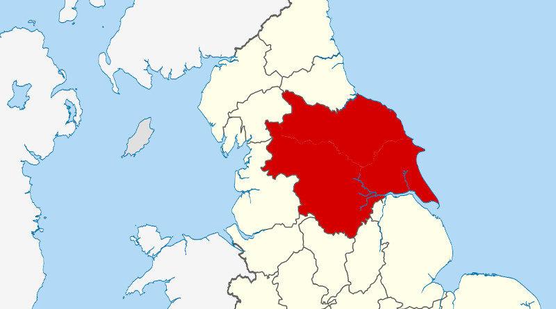 Landkarte Yorkshire