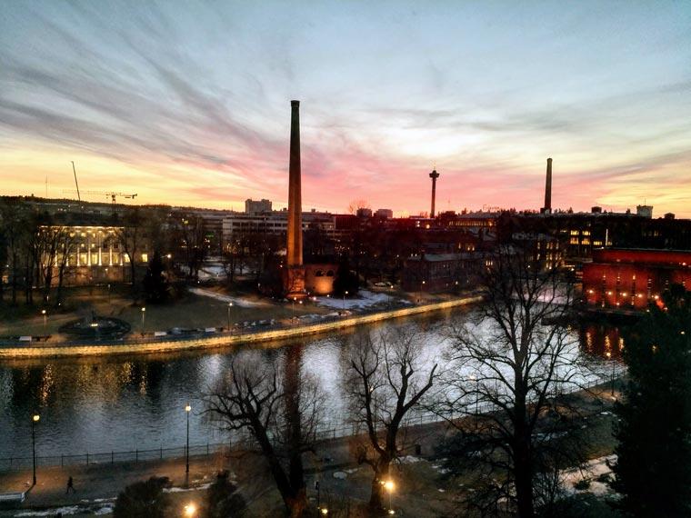 Abendstimmung in Tampere