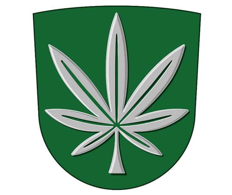 Wappen Cannabis-Blatt