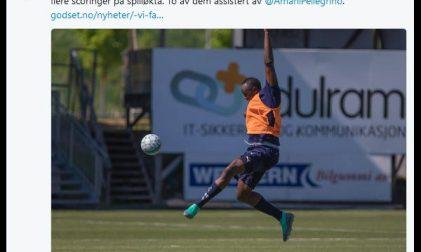 Usain Bolt trainiert in Norwegen