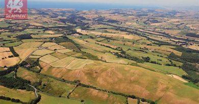 Luftbildarchäologie Wales Trockenheit