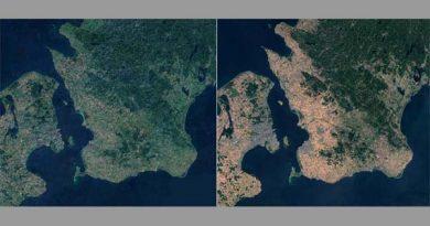 Satellitenbilder Trockenheit Schweden
