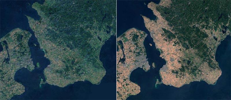 Südschweden/Schonen Satellitenbild