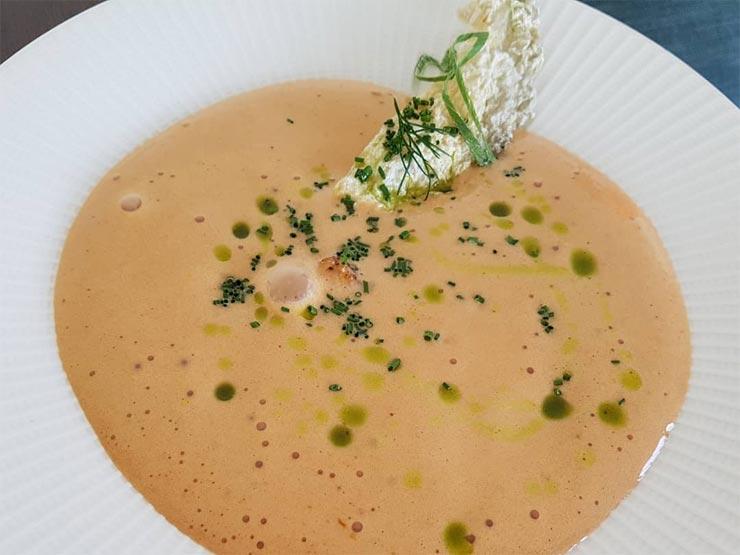 Creme Fischsuppe Hafen Restaurant