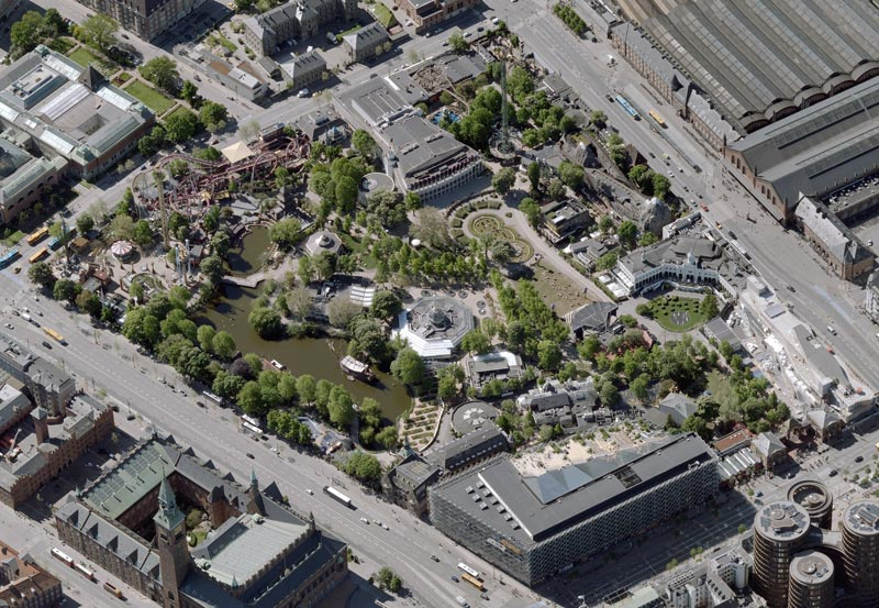 Luftaufnahme Tivoli Kopenhagen