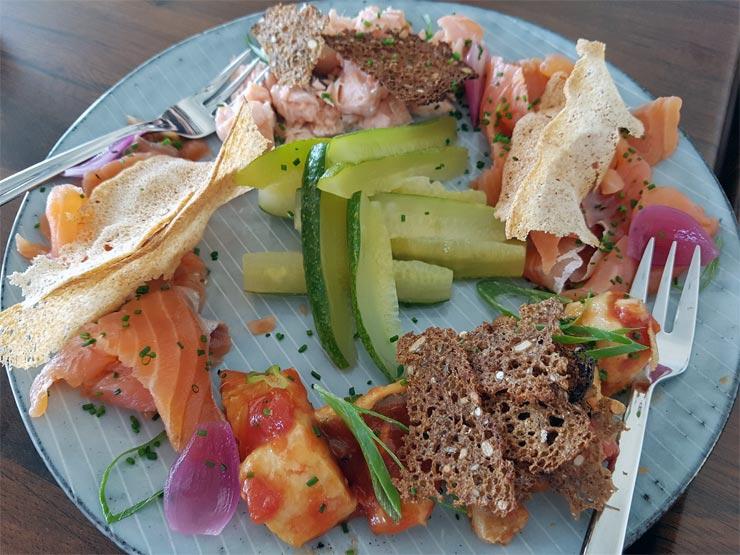 Vorspeise verschiedene Fischsorten
