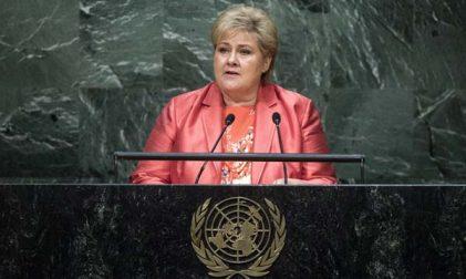 Erna Solberg Norwegen