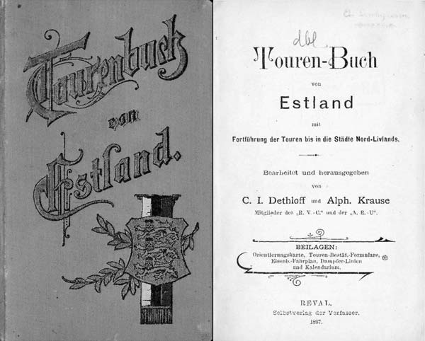 Altes Radtourenbuch aus Estland: von Bierbude zu Bierbude wie 1897