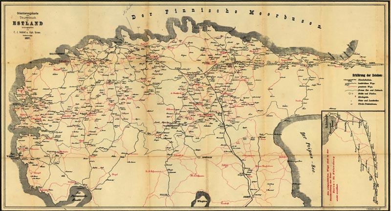 Radtouren-Karte