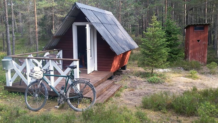 Radtour Estland: Camping-Hütte
