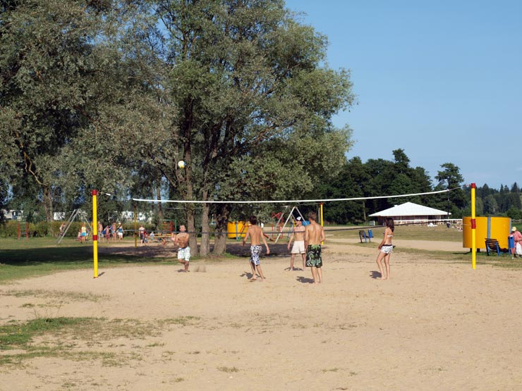 Beachvolleyball am Viljandi See