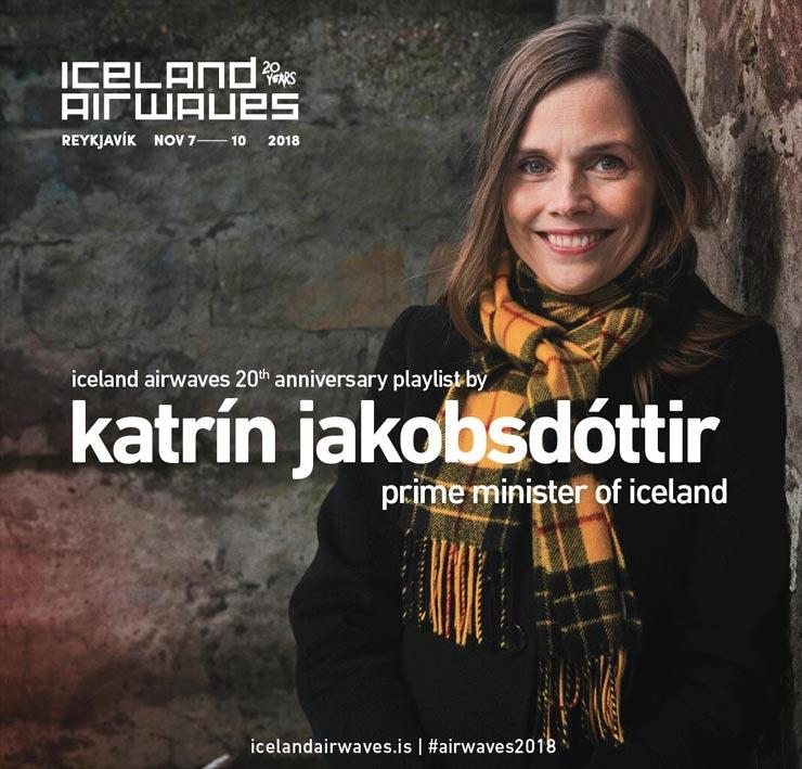 Iceland Airwaves Spotify Playlist Katrín Jakobsdóttir