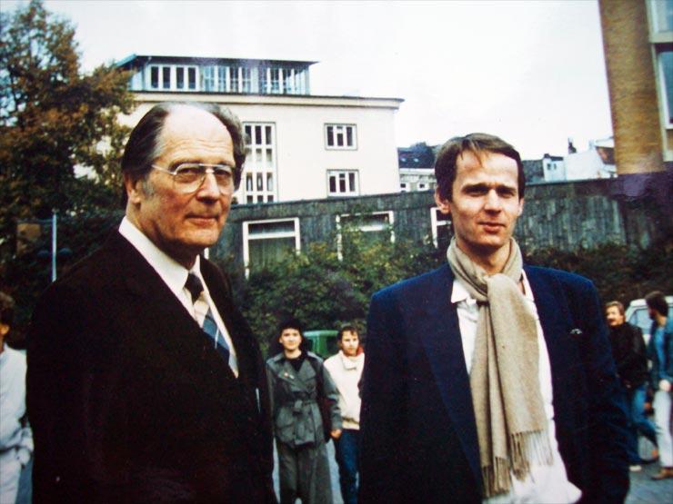 Jaan Kross mit Cornelius Hasselblatt