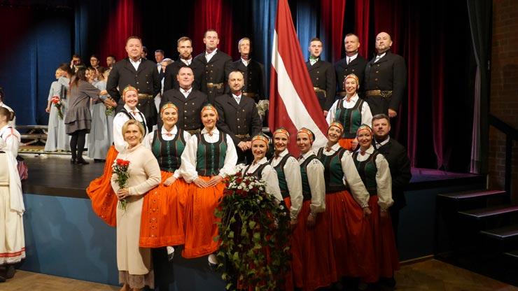 Lettland Feier Hamburg