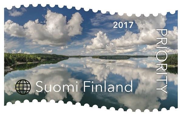Finnische Briefmarke