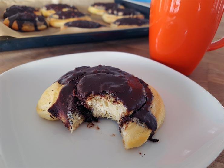 Mohnschnecken mit Schokolade