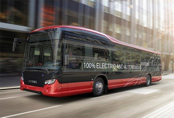 Selbstfahrende Busse Schweden Stockholm