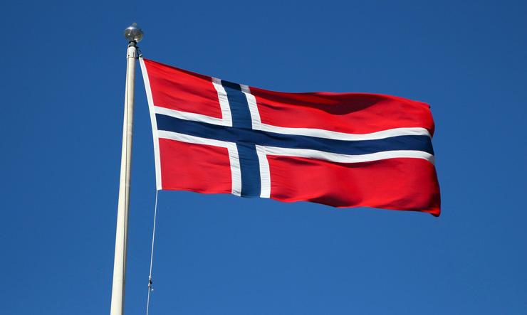 Norwegen Flagge Fahne