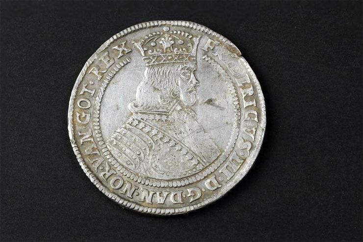 Dänische Silbermünze