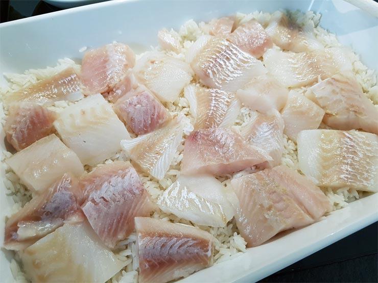 Fischfilet drauf und salzen