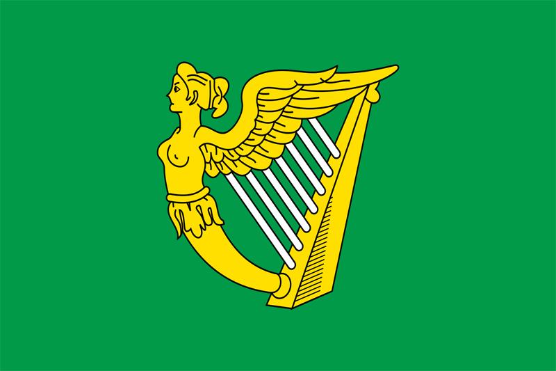 Irische Harfenflagge Fahne
