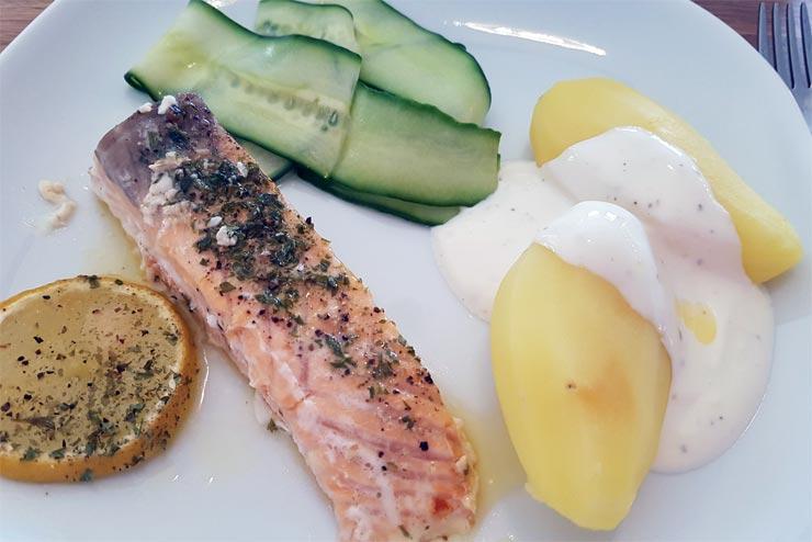 Fischgericht Ofenlachs