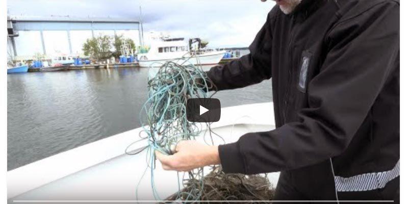 Finnland Fischereinetz Ostsee
