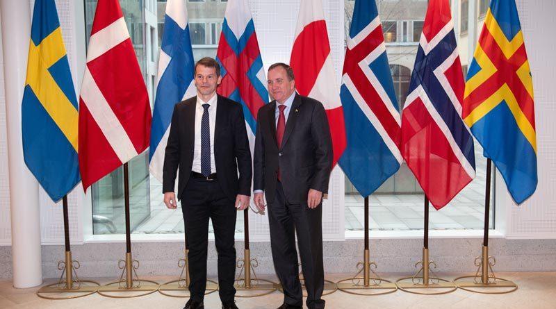 Färöischer Ministerpräsident Bárður Nielsen und Stefan Löfven