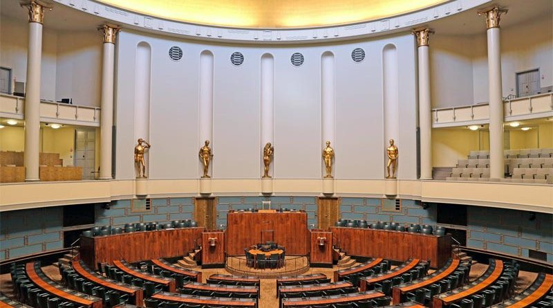 Plenarsaal finnisches Parlament