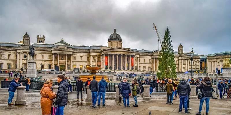 Trafalgar London Weihnachtsbaum
