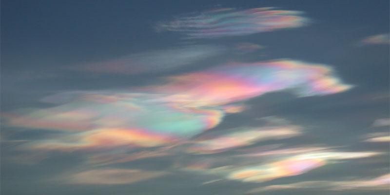 Eiswolken Irisierende Wolken