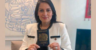 Blauer britischer Pass