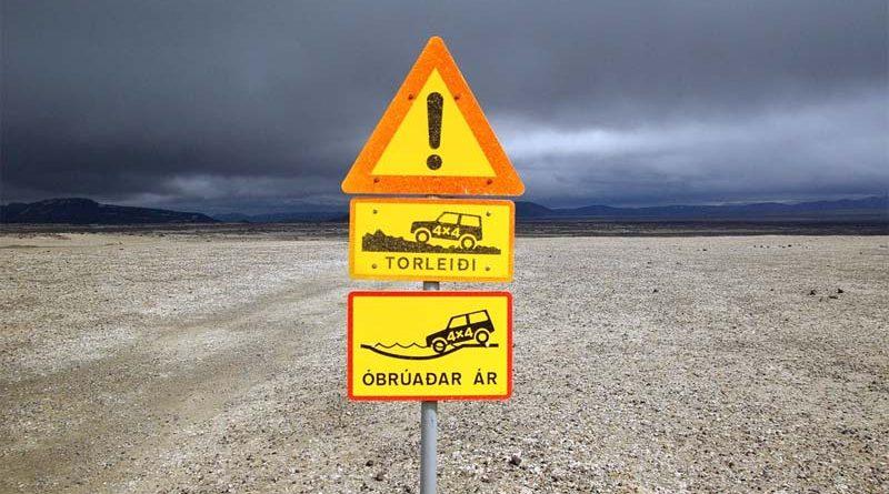 Verkehrsregeln Island
